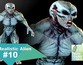 3D model Realistic Alien 10