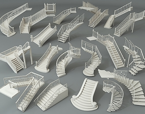 Stairs - Part - 3 - 19 pieces 3D