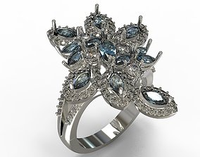 3D print model gem Jewelry ring