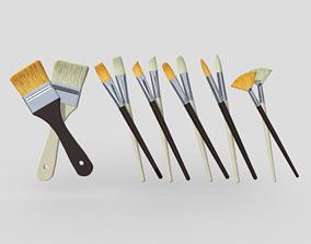 Paint Brush Pack 3D asset
