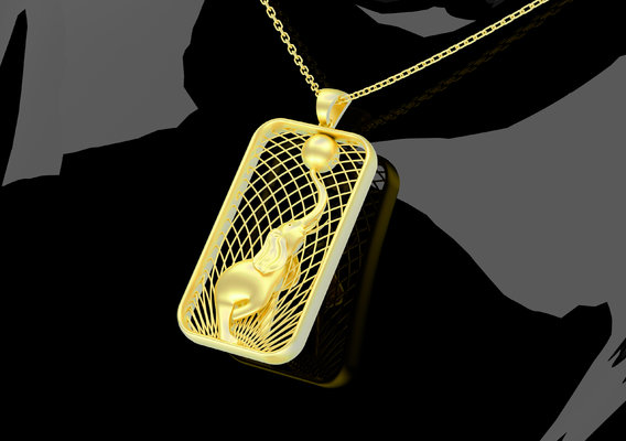 Sculpture Elephant Pendant Jewelry 3D Print Model