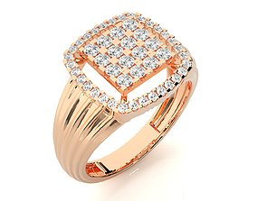 High Jewelry Grooms Gents Mens Cocktail ring 2