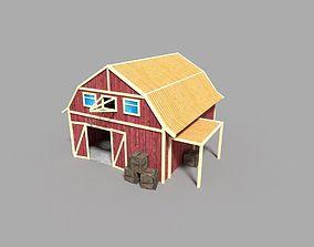 low poly farm silo 3D model