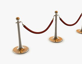 Stanchions and Rope Barrier 3D