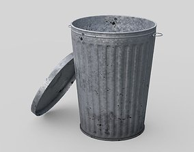 Dustbin 3 Lowpoly 3D model