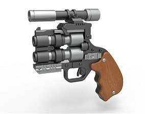 Snubble special Blaster pistol from Solo A Star 3D model 1