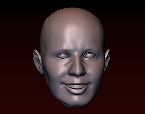 3D printable model Male head 23 Man head - smiling face