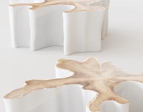 3D Uniqwa - LOG coffee table