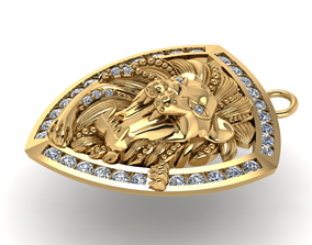 lion jewelry 2 3D print model