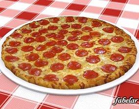 3D Pizza Diavola