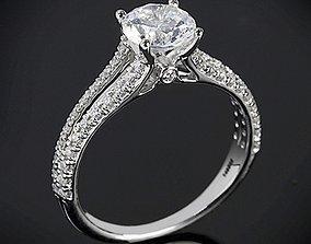 Vintage Collection Diamond Ring 3D print model