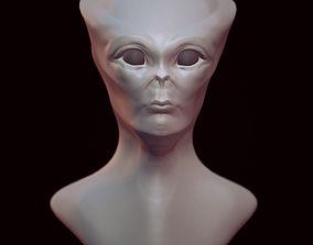Alien Head Sculpt 3D