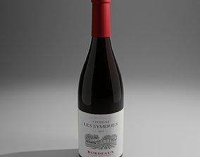 Wine Bottle 3D asset VR / AR ready