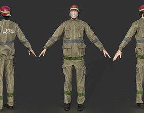 FIREFIGHTER 3D model PBR