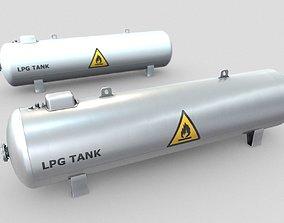 LPG Liquefied Petroleum Gas Tank Low-Poly 3D asset