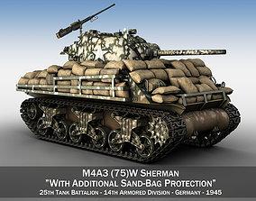 3D M4A3 Sherman - 25TB
