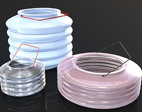 Fold-able Plastic Water Pot 3d Model