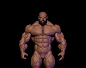 body builder 3D asset