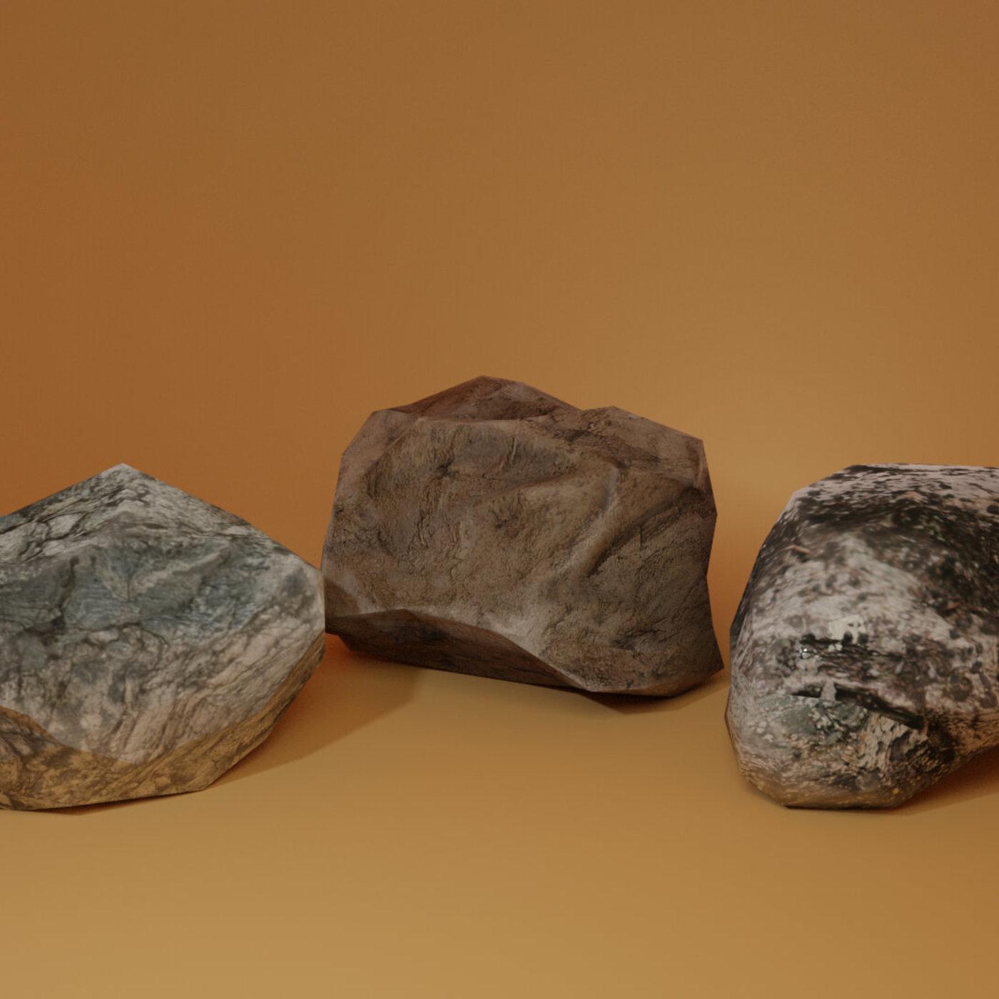 Low Poly Rocks!
