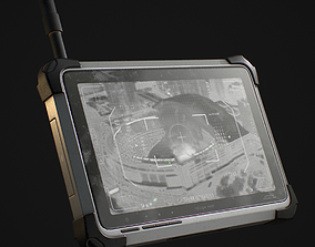 Tablet Phone Military 3D model