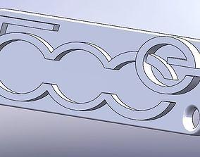 3D print model Fiat 500e Keychain