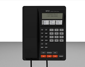3D model rigged Office Phone - Business Style