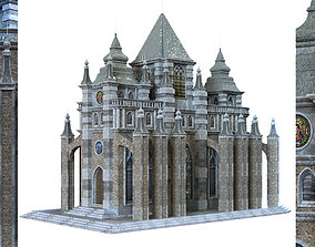 3D asset cathedral lowpoly for game num 010