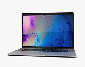 Apple MacBook Pro 15 inch 2018 Silver 3D model