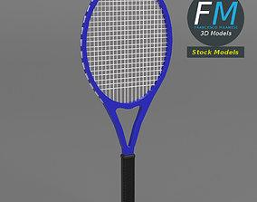 Tennis racket 3D asset