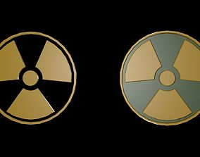 3D asset Low poly symbols of radiation