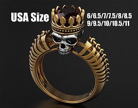 3D printable model Skull Engagement Ring 8