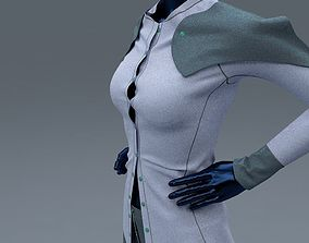 3D model Female Shirt and Trousers