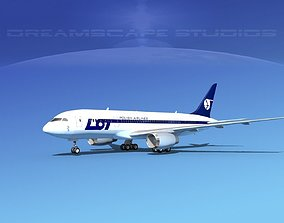 Boeing 787-8 LOT Polish Airlines 3D model