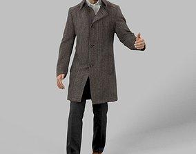 3D model Mark A Walking Business Man Arriving At A Meeting