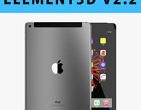 E3D - Apple iPad 97 Inch 2017 Cellular Space Grey 3D