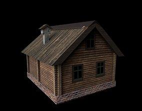Hut building 3D asset
