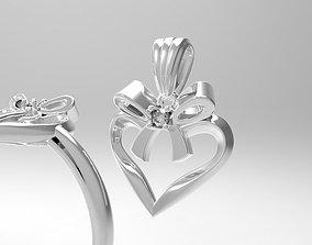 3D printable model bow ring