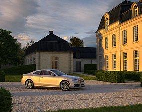 3D model Visualization Scene Audi A6 Coupe Sport