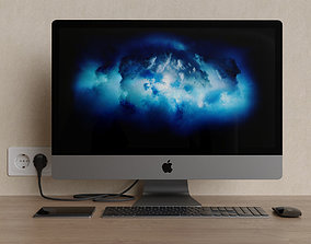 Apple iMac Pro Space Gray 3D
