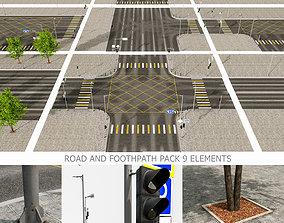 3D asset Road Fothpath Pack
