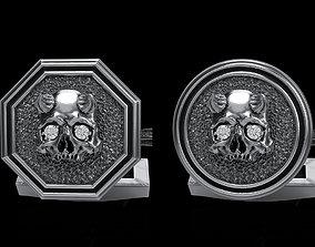 3D model skull cufflinks 2