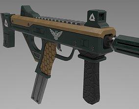 SMG Gun 3D asset low-poly
