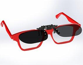 3D print model frameless sunglasses vision