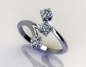 3D print model Trilogy fantasy with round diamonds
