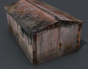Metal garage 2 3D asset