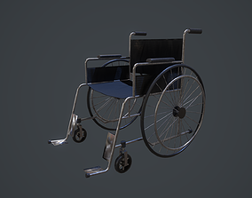 Wheelchair 3D model low-poly