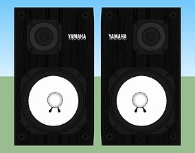 3D Studio Monitor Speakers - Yamaha NS-10