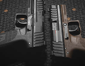 PMS KG19 Pistol and Knife - Models and Textures game-ready