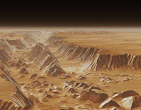 3D model Mars Valles Marineris Alien Planet Sci-Fi Fantasy