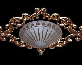 3D Ornate Ceiling Light Fixture